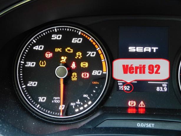 Les verifs extérieures 2019 du permis B sur la Seat Ibiza