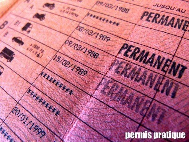"""Dénomination """"Permanent"""" pour les permis délivrés avant l'entrée en vigueur du permis à points."""