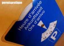 Le nouveau disque de stationnement bleu depuis 2012.