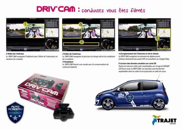 DRIV'CAM  : Apprendre à conduire sous l'œil de deux caméras