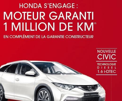 La garantie Honda 1 million de kilomètres: réalité ou intox?