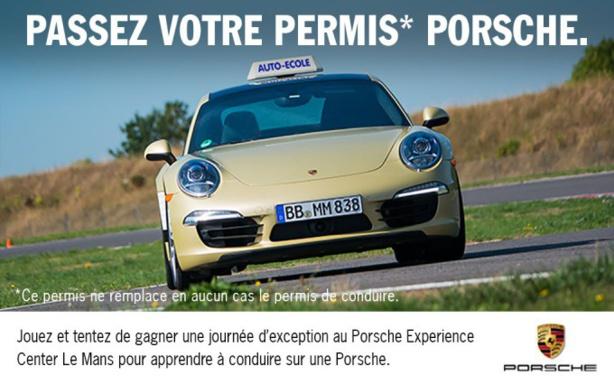 Porsche fait sa pub et malmène des candidats au permis de conduire