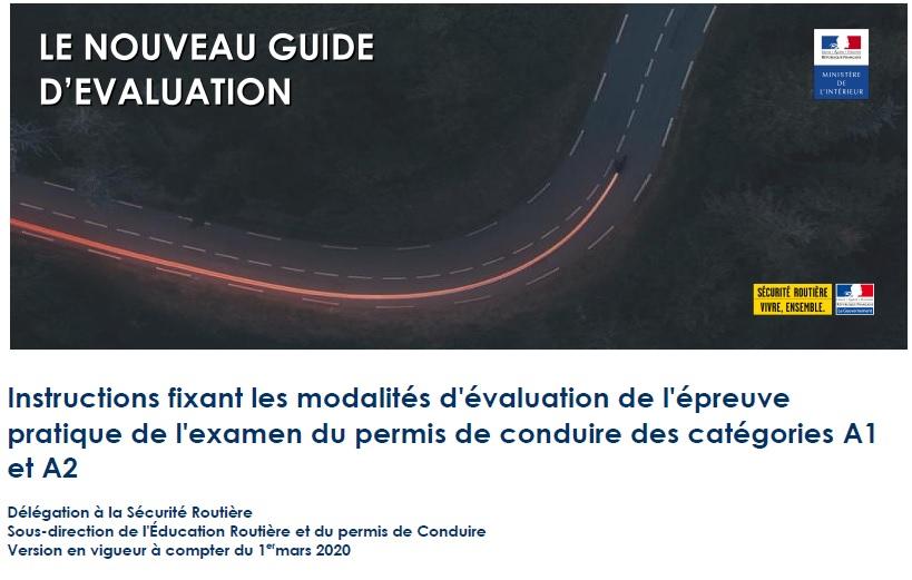 Le guide d'évaluation des inspecteurs pour les permis moto 2020 (1/3)