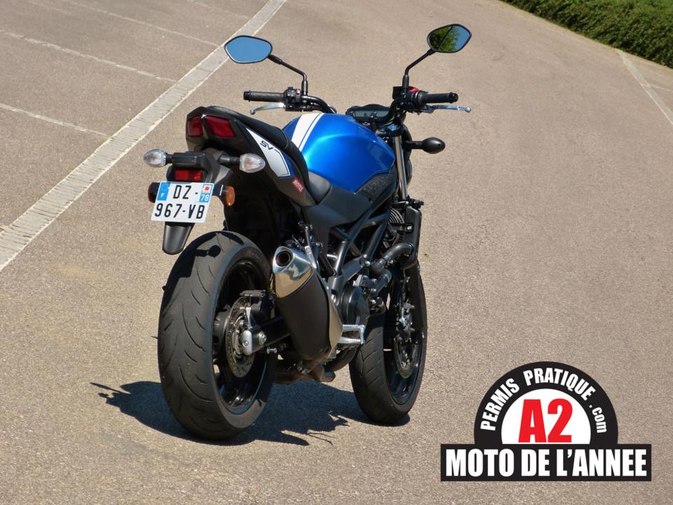 Moto de l'Année du permis A2 : la Suzuki SV650 haut la main