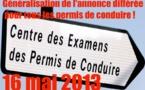 Généralisation de l'annonce différée pour tous les permis de conduire à partir du 16 mai 2013