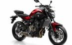 Les vérifs techniques du permis moto sur la Yamaha MT-07 en conditions d'examen