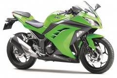 Kawasaki 300 Ninja profil 34avant