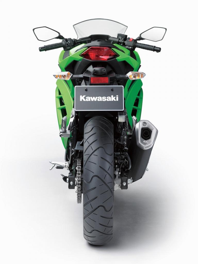 Kawasaki 300 ninja profil arrière